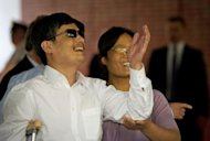 "Blind Chinese activist Chen Guangcheng, pictured on May 19, said Thursday he endured ""suffering beyond imagination"" at home"