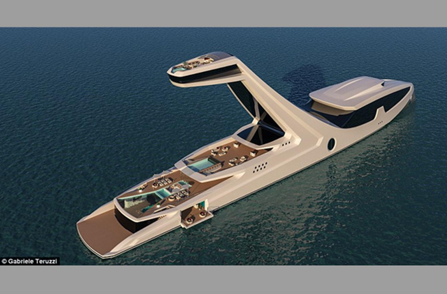 Ready for a buyer, 492-foot superyacht has beach club and elevated master