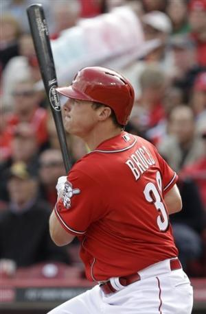 Bruce homers, doubles twice as Reds batter Brewers