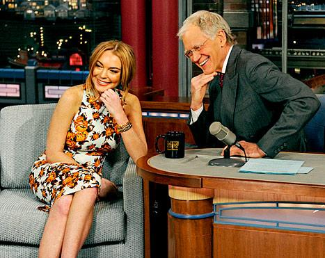 "Lindsay Lohan Gets Teary, Tells David Letterman I'm ""Looking Forward"" to Rehab"
