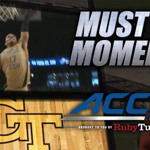 Ralph Sampson's Son Robert Throws Down Nasty Jam | ACC Must See Moment