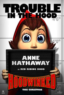 Anne Hathaway is the voice of Red Riding Hood in The Weinstein Company's Hoodwinked