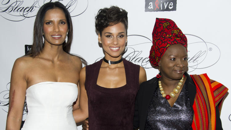 Alicia Keys raises $2.9M at gala, honors Winfrey
