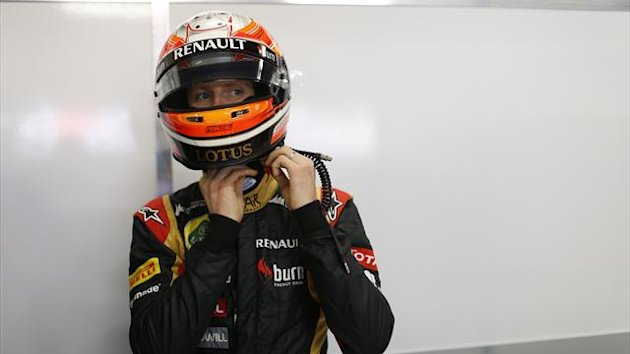 2013 Tests Montmelo Lotus Grosjean