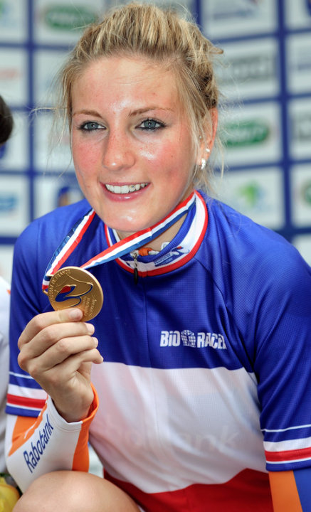 French Cyclist Pauline Ferrand Prevot Poses AFP/Getty Images