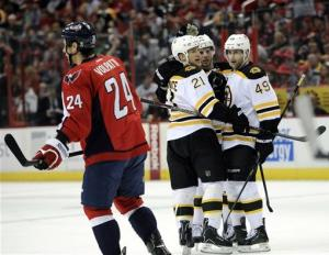 Bruins lose 3-2 to Caps in OT after leading by 2