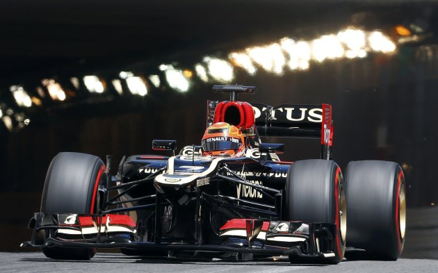 Lotus Formula One driver Kimi Raikkonen of Finland drives during the second practice session of the Monaco F1 Grand Prix