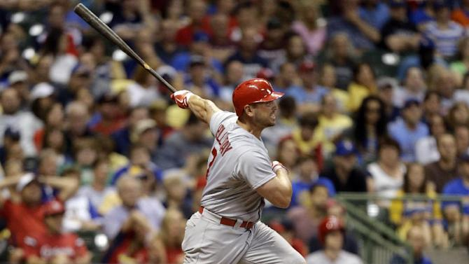 Cardinals rally from 6 down, beat Brewers 7-6