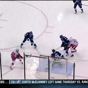 Ben Bishop gets back in position to rob Tatar
