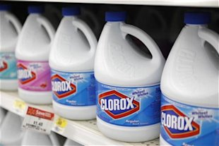 Clorox bleach bottles in a store: Credit Reuters