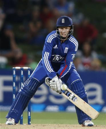 Root of England lines up a scoop shot against New Zealand during the second cricket match of their one-day international series at McLean Park in Napier