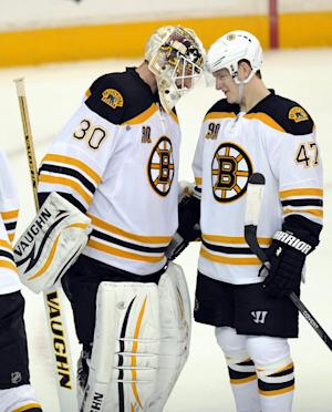 Bruins top Capitals 4-2, clinch Atlantic Division