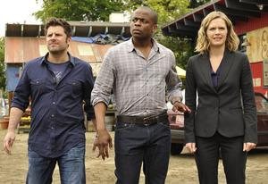 James Roday, Dule Hill, Maggie Lawson | Photo Credits: Alan Zenuk/USA Network