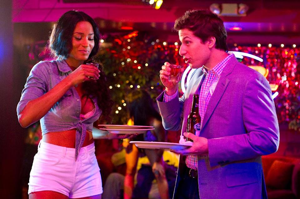 "This film image released by Columbia Pictures shows Ciara, left, and Andy Samberg in a scene from ""That's My Boy."" (AP Photo/Columbia Pictures - Sony, Tracy Bennett)"