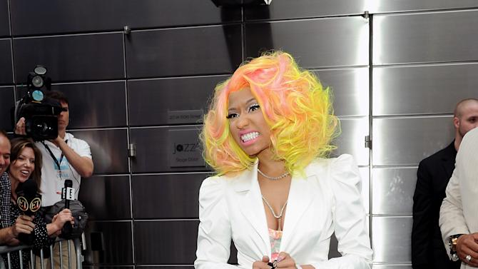 """""""American Idol"""" Season 12 judge Nicki Minaj arrives for day one auditions at Jazz at Lincoln Center on Sunday, Sept. 16, 2012 in New York. (Photo by Evan Agostini/Invision/AP)"""