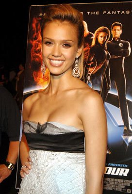 Jessica Alba at the New York premiere of 20th Century Fox's Fantastic Four