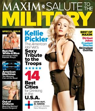 sexy revealing photo shoot maxims salute military issue pickler sizzles
