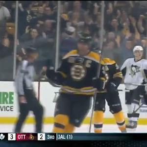 Krejci and Chara score in final minutes