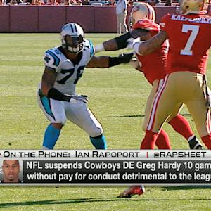 Dallas Cowboys defensive end Greg Hardy suspended 10 games without pay