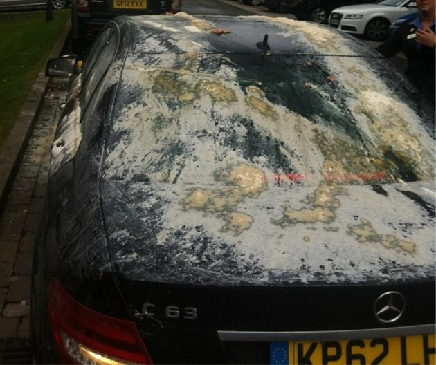 Attempts to cook pancakes on Owen's car proved unsuccessful (@themichaelowen)