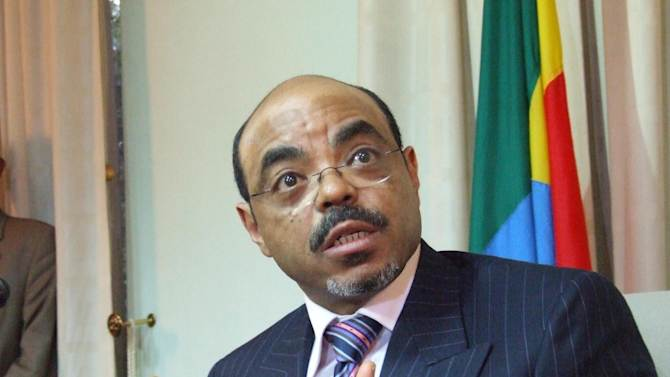 FILE -- In a Jan. 10, 2007 file photo Ethiopian Prime Minister Meles Zenawi is seen at his offices in the capital, Addis Ababa.  Zenawi, Ethiopia's long-time ruler who held tight control over this East African country but was a major U.S counter-terrorism ally, died of an undisclosed illness after not being seen in public for weeks, Ethiopian state television said Tuesday Aug. 21, 2012.  (AP Photo/Les Nauheus, file)