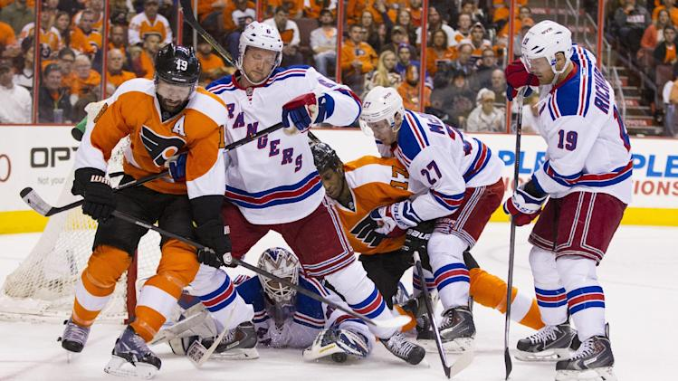 Rangers aid Lundqvist with bevy of blocked shots