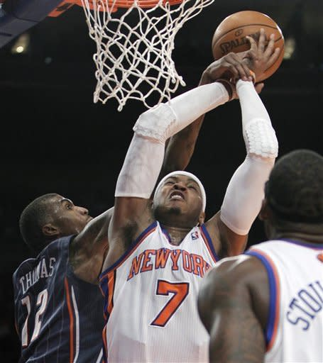 Anthony helps Knicks avenge loss to Bobcats