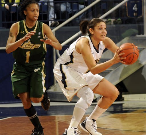 Notre Dame women beat South Florida 80-68