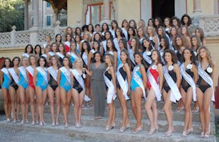 Patrizia Mirigliani tra le concorrenti di Miss Italia