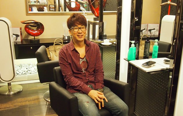 Korean hairstylist Edward J Kim runs the uber-trendy Spa Scene at Raffles City (Yahoo! Photos/ Elizabeth Soh)
