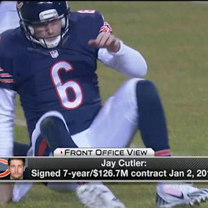 What is the trade value for Chicago Bears quarterback Jay Cutler?