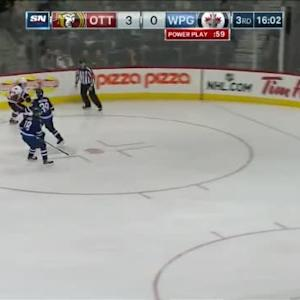 Ondrej Pavelec Save on Jean-Gabriel Pageau (04:02/3rd)