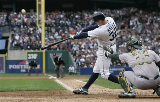 Tigers score in 9th, beat A's 5-4 for 2-0 lead