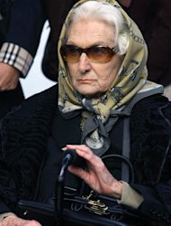 FILE - Oct. 17, 2006 file photo of Neslisah Osmanoglu, an Ottoman princess who married an Egyptian prince and was twice forced into exile when both royal households were abolished, has died in Istanbul on Monday, April 2, 2012. The princess, 91,was the oldest member of the Ottoman dynasty. Neslisah Sultan was born in Istanbul on Feb. 4, 1921, two years before the Turkish Republic replaced the Ottoman Empire, which had ruled Turkey, parts of the Middle East and eastern Europe for 600 years. (AP Photo/Kursad Bayhan, File)