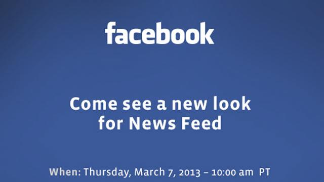 Facebook to Unveil 'New Look for News Feed' March 7