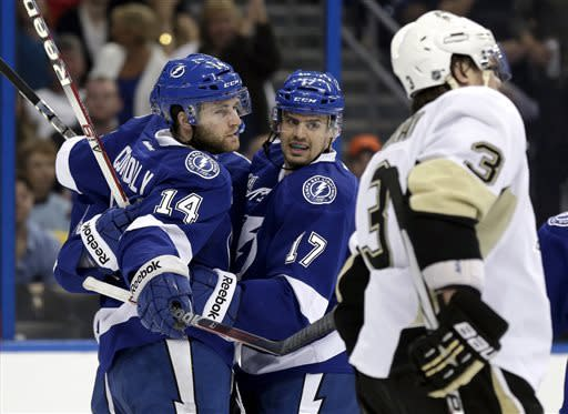 Jokinen has 2 goals, Pens beat Lightning 6-3
