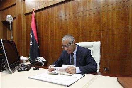 Libya's Prime Minister Ali Zeidan attends an interview with Reuters in Tripoli March 10, 2014. REUTERS/Ismail Zitouny