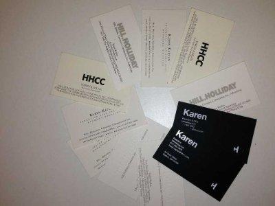 karen kaplan hill holliday business cards