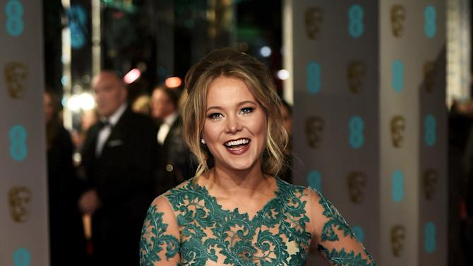 Poppy Jamie arrives at the British Academy of Film and Television Arts (BAFTA) Awards in London