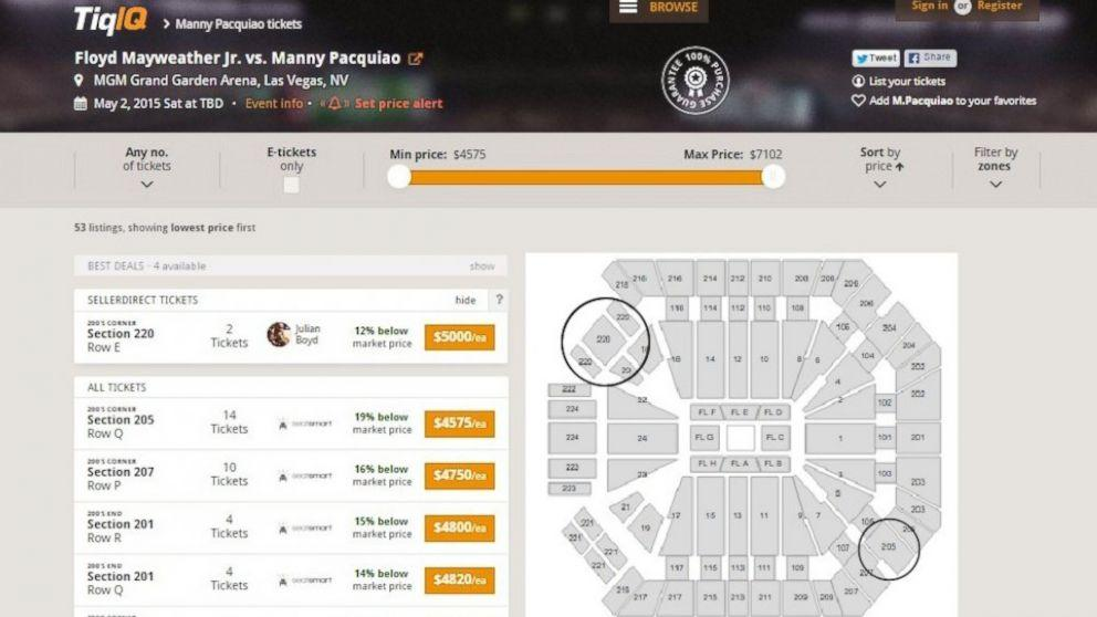 Worst Mayweather-Pacquiao Seats Will Still Cost $5,000