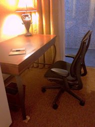 Is Your Customer Experience Something You've Experienced (as a Customer?) image MR desk chair and wobbly desk 061413