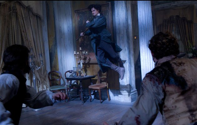 Abraham Lincoln (Benjamin Walker) takes to the air in an epic battle with the undead. (20th Century Fox provided photo)