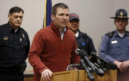 FBI Special Agent in Charge Greg Bretzing speaks to the media during a news conference in Burns, Oregon