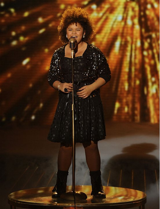 "Rachel Crow performs ""Music and Me"" by Michael Jackson on ""The X Factor."""