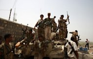 Yemeni soldiers celebrate in the southern city of Jaar in June 2012 after ousting Al-Qaeda militants. Yemeni troops killed the second in command of Al-Qaeda in the Arabian Peninsula, regarded by Washington as the jihadist network&#39;s deadliest branch, in a raid in the east, the defence ministry news website said on Monday