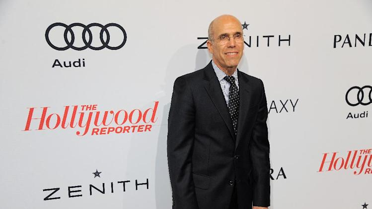 Jeffrey Katzenberg,CEO DreamWorks Animation, arrives at The Hollywood Reporter Nominees' Night at Spago on Monday, Feb. 4, 2013, in Beverly Hills, Calif. (Photo by Chris Pizzello/Invision for The Hollywood Reporter/AP Images)