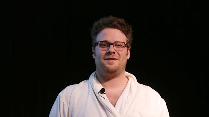 Seth Rogen at The L.A. Gay & Lesbian Center for 'An Evening Honoring Amy Pascal and Ralph Rucci', on Thursday, March, 21, 2013 in Beverly Hills. (Photo by Eric Charbonneau/Invision for  Sony Pictures Entertainment/AP Images)