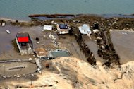 Coastal damage caused by Hurricane Sandy.