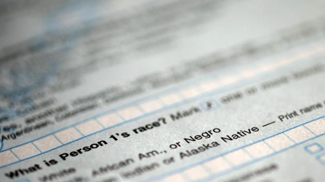 "In this photograph of a sample 2010 US Census form, obtained by The Associated Press shows question 9: ""What is Person 1's race"", on the first page of the 2010 Census form, with options for White: Black, African Am., or Negro. After more than a century, the Census Bureau is dropping use of the word ""Negro"" to describe black Americans in its surveys. Instead of the term popularized during the Jim Crow era of racial segregation, census forms will use the more modern-day labels, ""black"" or ""African-American"".  (AP Photo)"