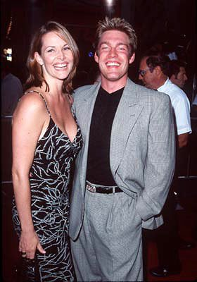 Judson Mills with wife Julie at the Hollywood premiere of New Line Cinema's Blade